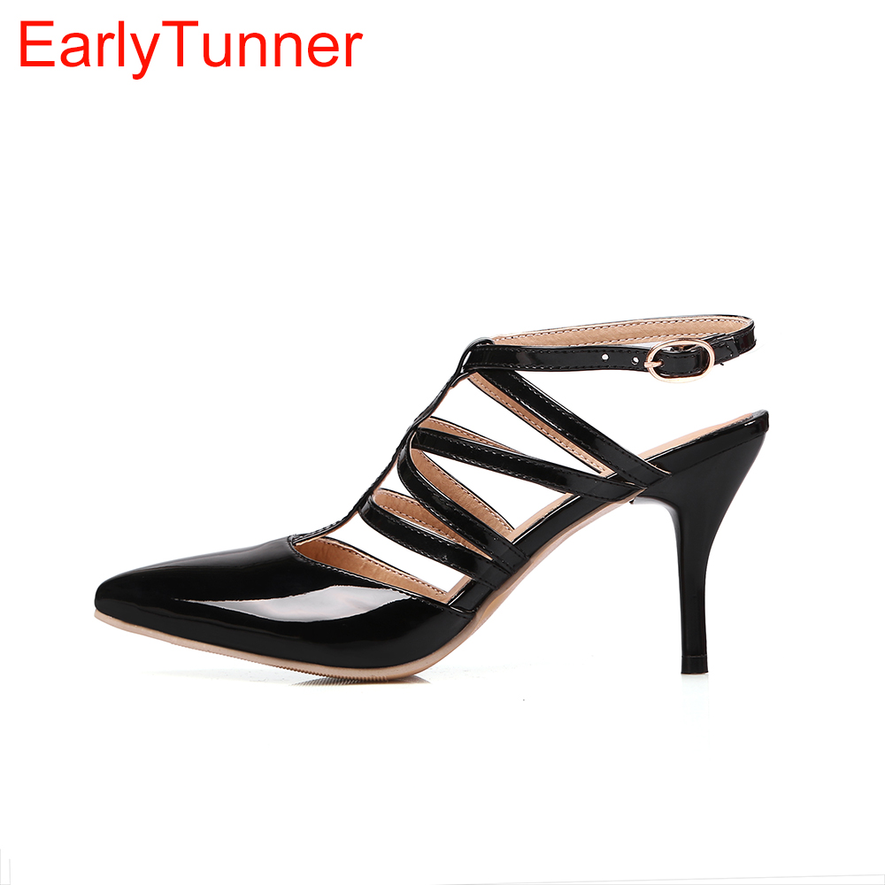 Verkäufe Marke Neue Sommer Sexy Schwarz Rot Weiß Frauen Slingback Sandalen Hohe Gladiator Heels Dame Schuhe Ems06 Plus Große Größe 12 30 48 Buy One Give One Frauen Schuhe
