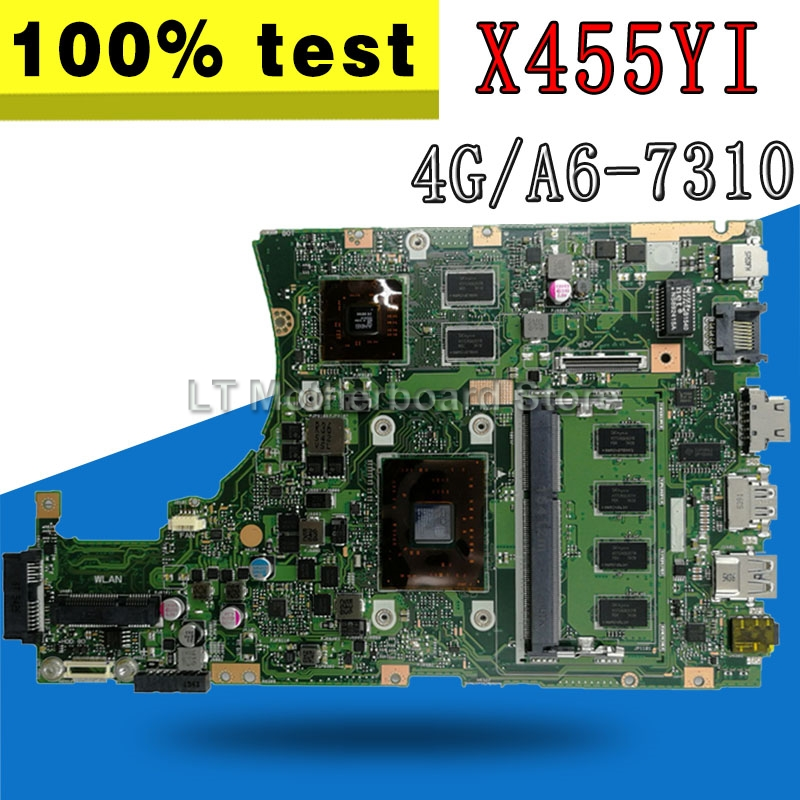 X455YI MAIN_BD._4G/A6-7310 CPU laptop motherboard For asus X455YI X455Y X455DG X455D mainboard 100% test OkX455YI MAIN_BD._4G/A6-7310 CPU laptop motherboard For asus X455YI X455Y X455DG X455D mainboard 100% test Ok