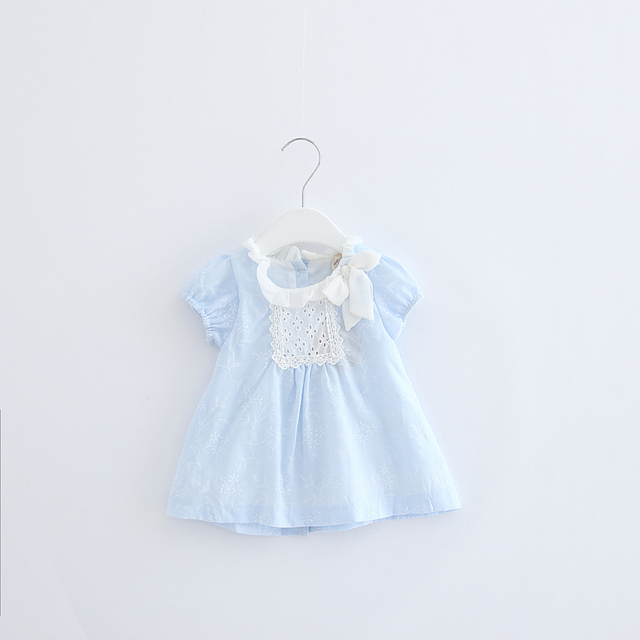 Newborn Baby Girl Dress Summer Birthday Party Dress for Girls Cotton Infant Girl Dress Vestidos Bebe 0-2 years white pink blue