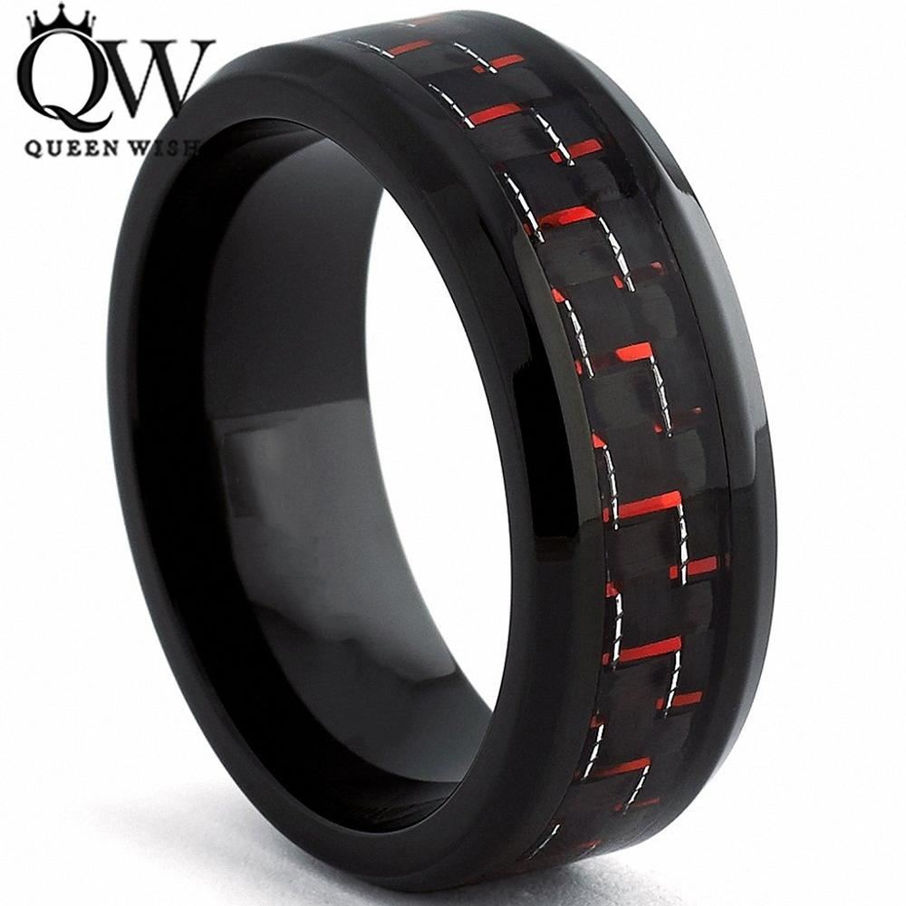 guys wedding rings queenwish engagement rings for men 8mm black tungsten ring 4649