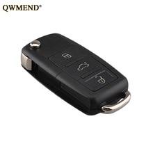 QWMEND Car Remote key shell Fob For VW Passat Polo Golf SKODA Octavia Seat 2004-2011 1K0959753G 753G