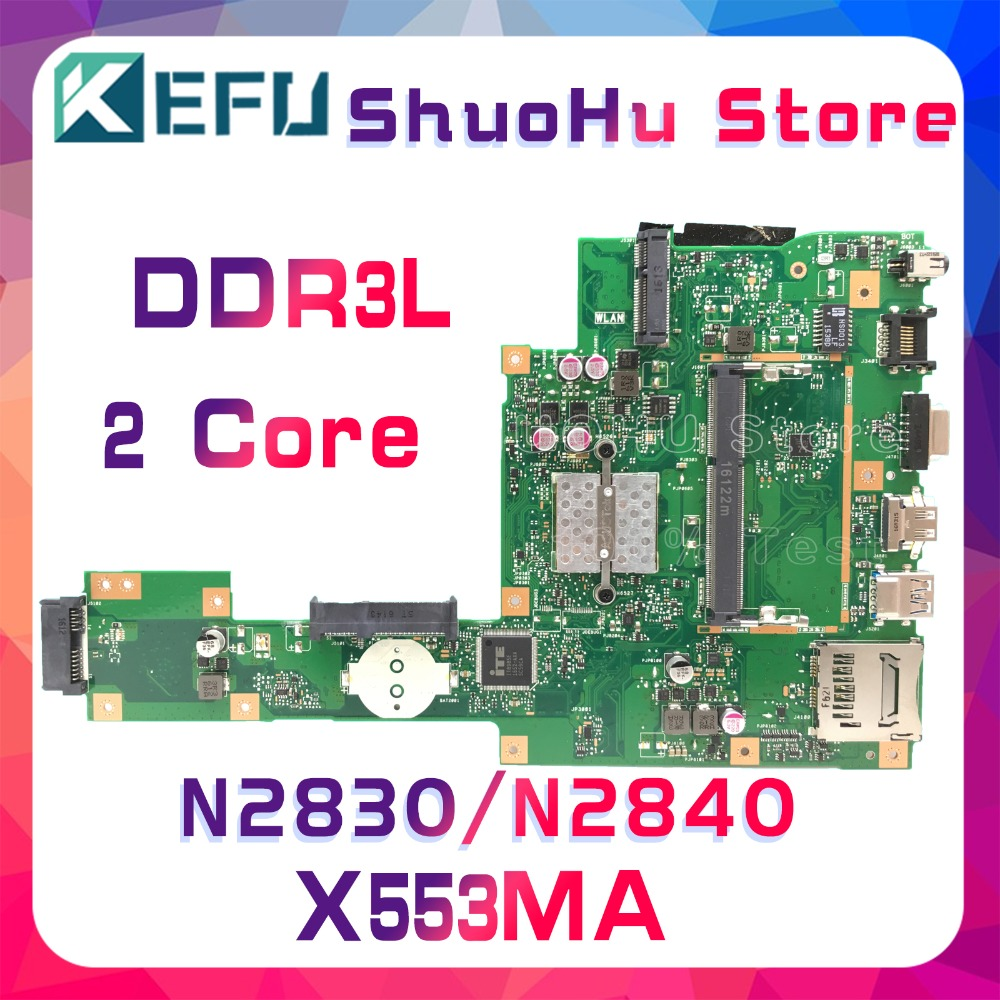 KEFU For ASUS X553MA X503M X553M F553M X503MA F553MA N2840/N2830 laptop motherboard tested 100% work original mainboard