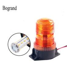 Bogrand تحذير منارة ضوء LED العنبر مصباح إشارة الطوارئ Bus المدرسة 12 36 فولت السلامة ستروب وامض مصباح مؤشر ضوء