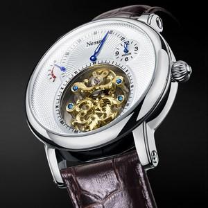 Image 2 - Switzerland Luxury Brand Nesun Hollow Tourbillon Watch Men Automatic Mechanical Mens Watches Sapphire Waterproof clock N9081 4