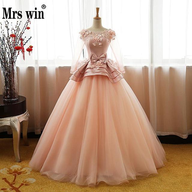 Floral print wedding dress 2018