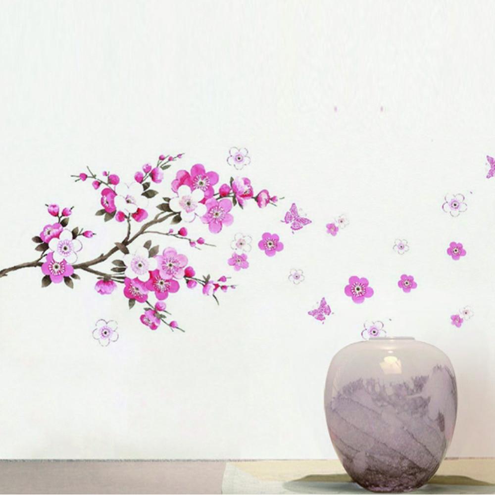 Lamp light wall art decor removable mural vinyl decal sticker purple - Diy Wall Sticker Pvc Cherry Tree Or Magnolia Pattern Room Home Office Bedroom Vinyl Decal Art