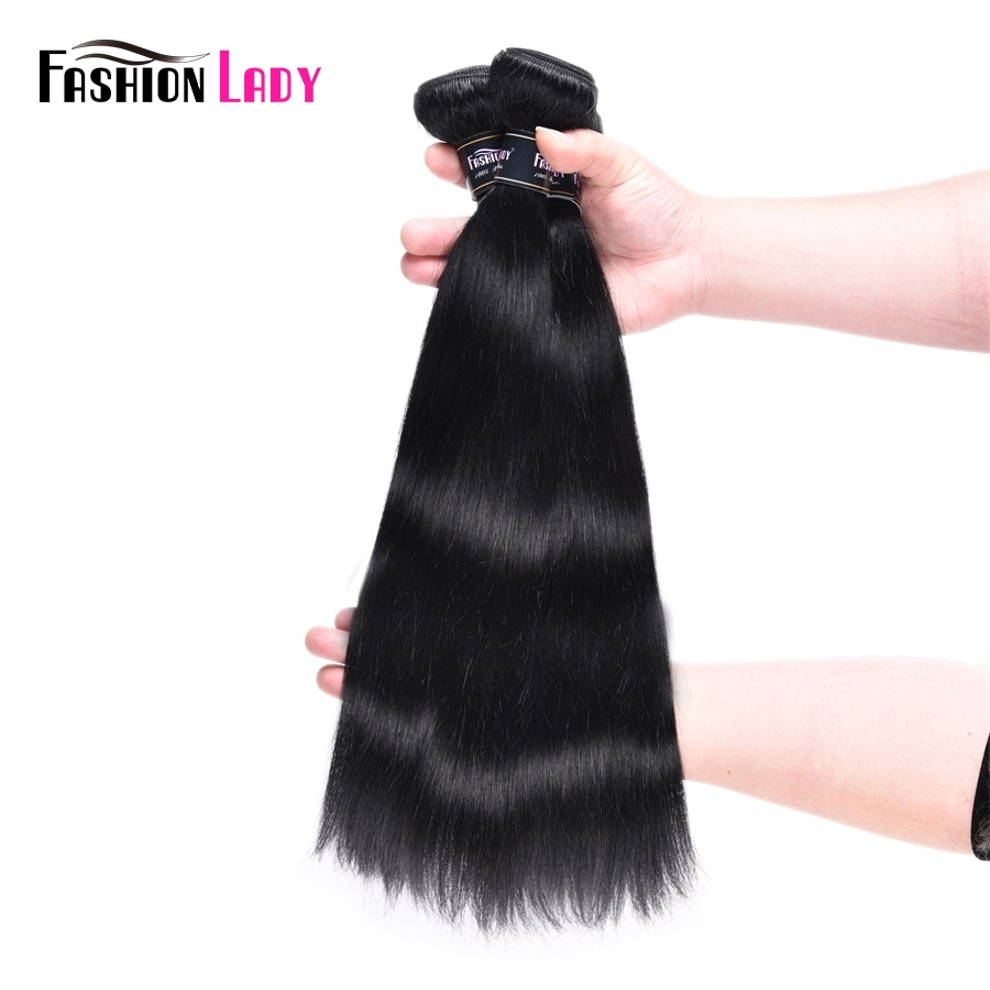Fashion Lady Pre-Colored Indian Straight Hair Bundles With Closure Human Hair Weave 3Pcs Jet Black Bundles With Closure Non-Remy