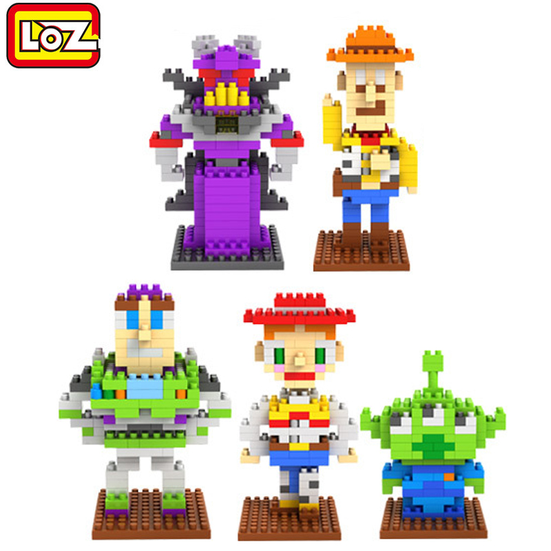 toy brick kid toys building blocks cartoon anime Toy Story loz diamond blocks toys figure Buzz Lightyear enlighten children gift loz my neighbor totoro toy umbrella totoro model action figure diamond building blocks original box 14 gift 9509
