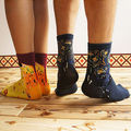 1 Pair Novelty Funny Leg Warmers  New Vintage Retro Unisex Famous Painting Art Socks For Men Women Lady