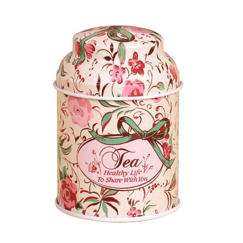 С цветочным принтом Home коробка для хранения металла Кофе сахар Чай контейнер