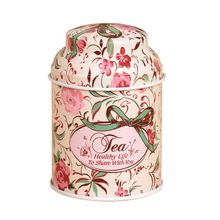 Flower Printed Home Storage Box Metal Coffee Sugar Tea Container
