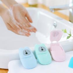 Одноразовые мыло в коробке бумага 50 шт. Путешествия Портативный Ручная стирка коробка Ароматические ломтик простыни детские мини мыло