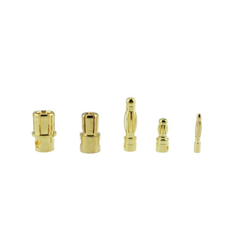 20 paires ou 10 paires 2mm 3.5mm 4mm 6mm 8mm balle banane connecteur mâle femelle pour pièce de batterie RC Or PlatedARE4