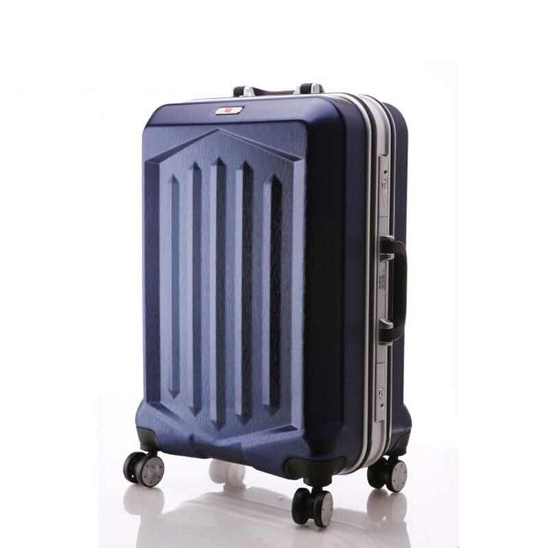 Aluminum frame Luggage universal wheel Suitcase Light Travel Bag Rolling LuggageAluminum frame Luggage universal wheel Suitcase Light Travel Bag Rolling Luggage
