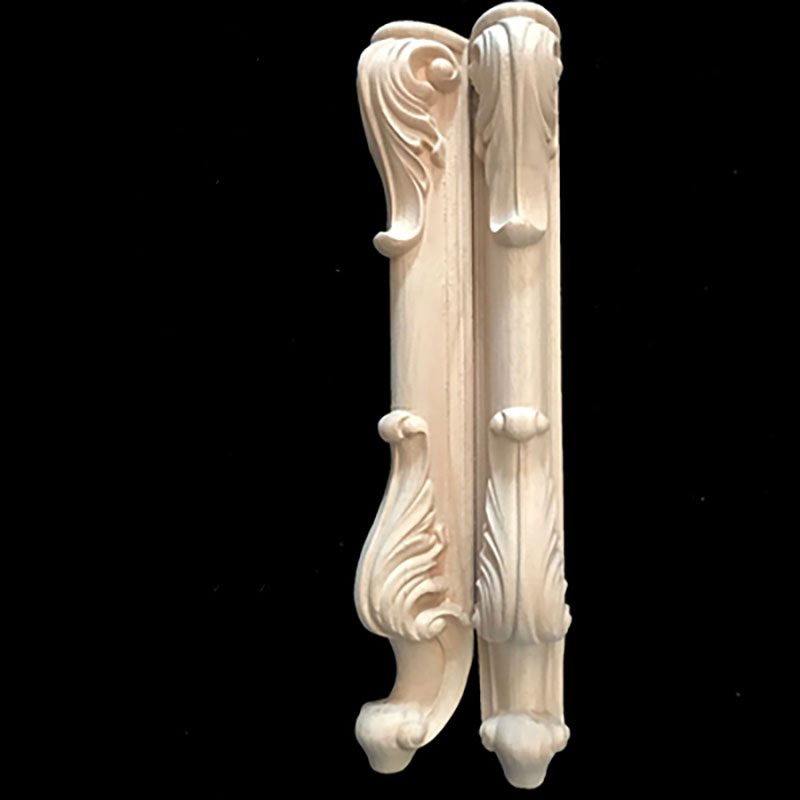 2pcs/lot Solid Wood Furniture Legs European Carved Cabinet Legs Table Legs