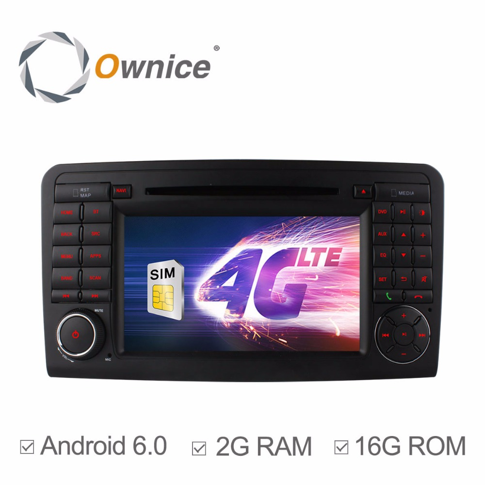 1024 Quad Core 2GB RAM Android 6.0 Car DVD Player For <font><b>Mercedes</b></font> Benz <font><b>ML</b></font> CLASS W164 ML300 ML320 ML350 ML450 ML500 ML63 With Radio image