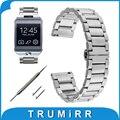 22mm de acero inoxidable reloj de la venda de la pulsera de la mariposa para samsung gear 2 r380 r381 r382 moto 360 2 gen 46mm tiempo de gravilla de acero