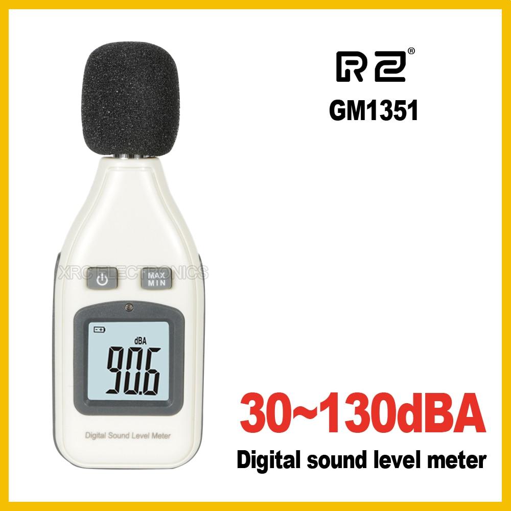 RZ GM1351 30-130dB Medidor de nivel de sonido digital Medidores probador de ruido en decibelios Pantalla LCD Nuevo