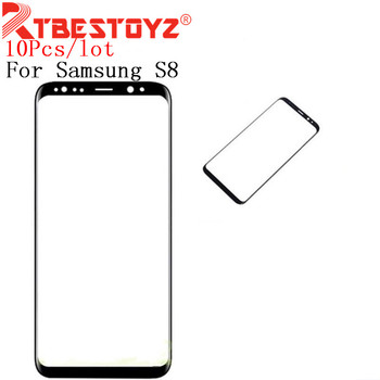 RTBESTOYZ 10PCS/lot Black Original S8 Plus Replacement Front Outer Screen Glass Lens For Samsung S8 Touch Screen Panel Digitizer