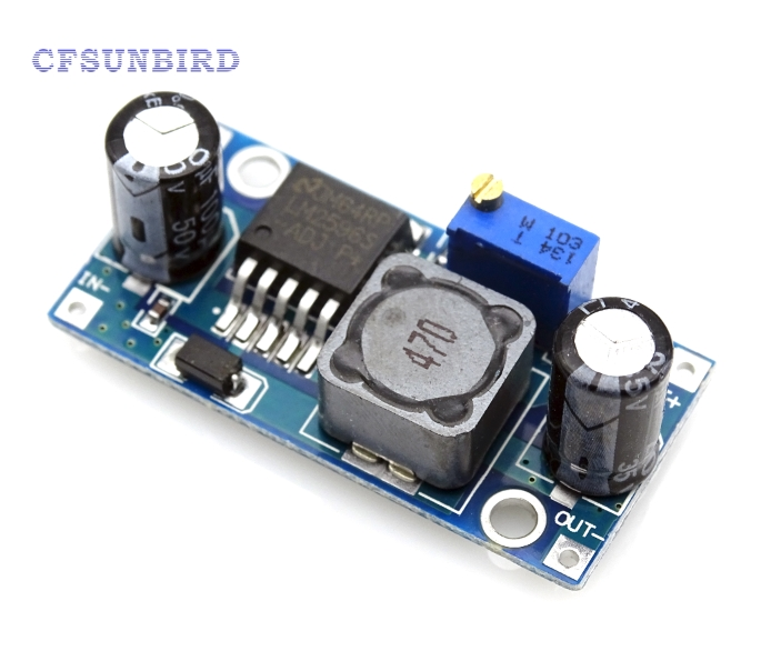 10pcs LM2596 LM2596S ADJ Power supply module DC-DC Step-down module 5V/12V/24V adjustable Voltage regulator 3A tiepian