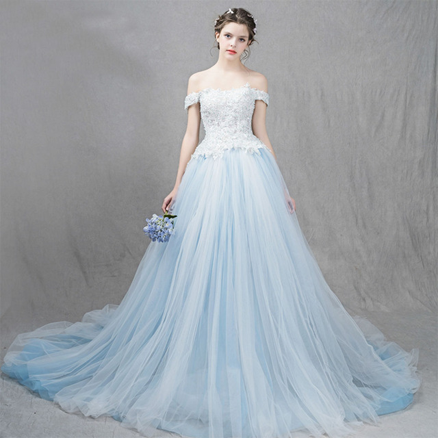 BKMGC The palace Style Fansmile Korean Lace Up Ball Gown Quality Wedding  Dresses 2017 Plus Size Bridal Wedding Dress f09d2df161bd