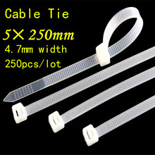 250pcs 5*250mm National Standard Plastic Nylon Tie Bring 3*120mm 2.5mm Wide Wire Harness Fixed Pedestal