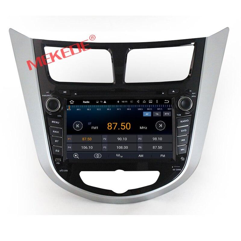Android 7.1CAR lecteur DVD pour Hyundai Solaris accent Verna i25 radio GPS navigation Bluetooth 3g/Wifi carte Gratuite