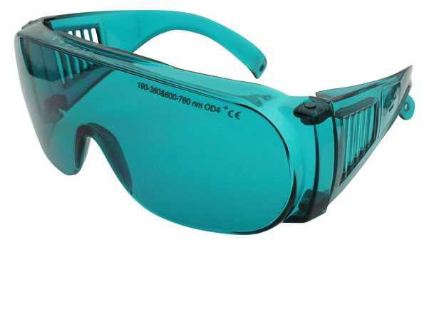 190-380 & 600-760nm laser protective eyewear O.D 4+ CE certified high VLT% 10pcs 190 380