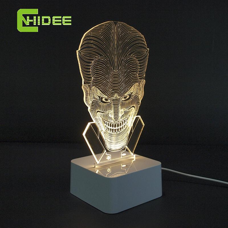 cnhidee regalos innovadores usb touch regulable lmpara bromeando hombre divertido d llev la luz de la