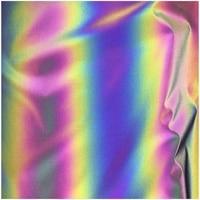 135CM*100CM Iridescence Reflective Fashion Magic Rainbow Cloth Variable Color Brilliant Reflecting Light Fiber Fabric