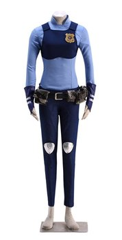 Zootopia Judy Police Cosplay Costume Rabbit Ears Tail Full Accessory