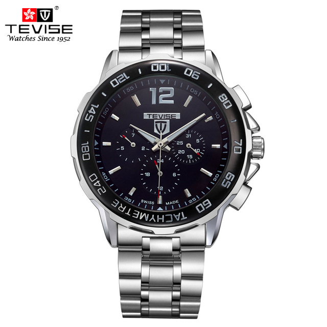 Fashion Men Automatic Mechanical Watch Men Stainless steel Business Self Wind Auto Date Wristwatch Relogio Masculino