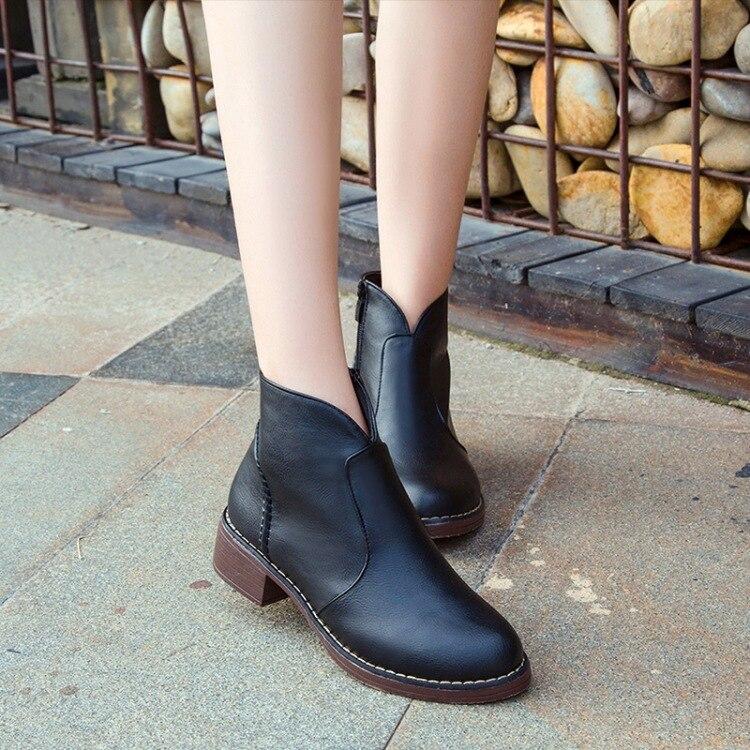 Women's shoes new 2018 Autumn winter Martin Short boots fashion non-slip zapatos mujer Side zipper bottine