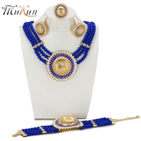SHILU New Wedding African Jewelry Sets For Women Fashion Jewelry Gold Plated Nigerian Beads Jewelry Set