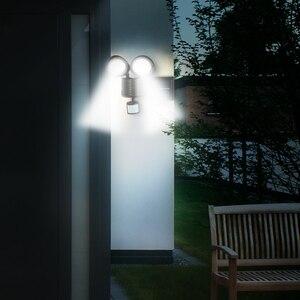 Image 3 - 42 LED Solar Power Light Double Head Human Body Motion Sensor Pathway Solar Lamp Outdoor Waterproof Energy Saving Spotlight
