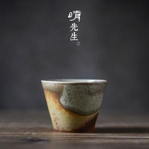 Цзиндэчжэнь чайная чашка, чайная чашка, ретро Пуэр чайная чашка, антикварная чайная чашка, Японский Zen чайный набор кунг-фу, чайная чашка кер...