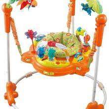 Вращающееся сиденье на 360 градусов для раннего образования, трехскоростное регулируемое детское кресло-качалка для прыжков и фитнеса, детское кресло-качалка 3-20 м