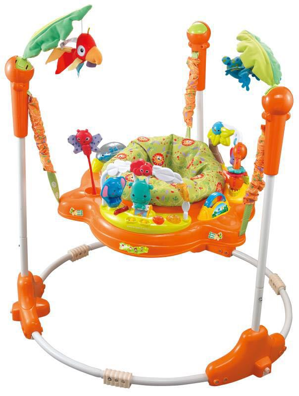360 Degree Swivel Seat Early Education Three-speed Adjustment Infant Swing Chair Jumping Fitness Chair Baby Rocker 3-20M