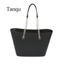 2019 TANQU Obag Style Big EVA Bag with Inner insert Colorful Long Silver Chain Handles Waterproof Women bag Shoulder bag waterproof lining insert pocket handles for classic for obag canvas inner pocket for o bag silicon bag handbag accessories
