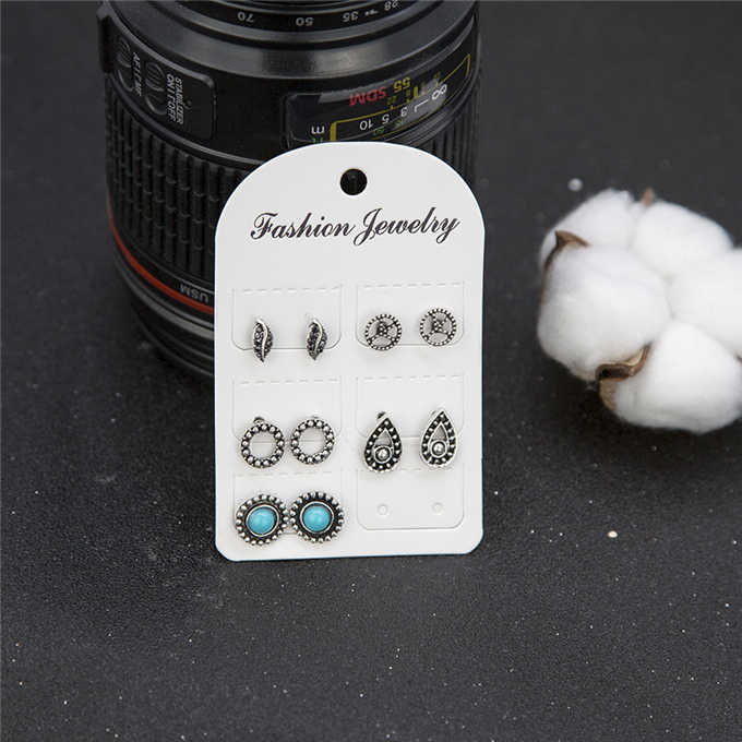 earrings New fashion women's jewelry wholesale girls birthday party pearl earrings set mashup
