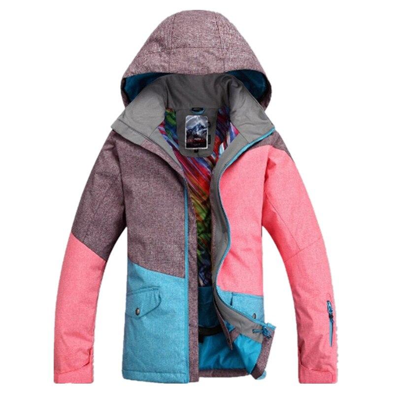 Gsou snow 30 градусов брендовая зимняя куртка для сноуборда для женщин Водонепроницаемая 10000 ветрозащитная цветная женская спортивная Лыжная ку... - 4