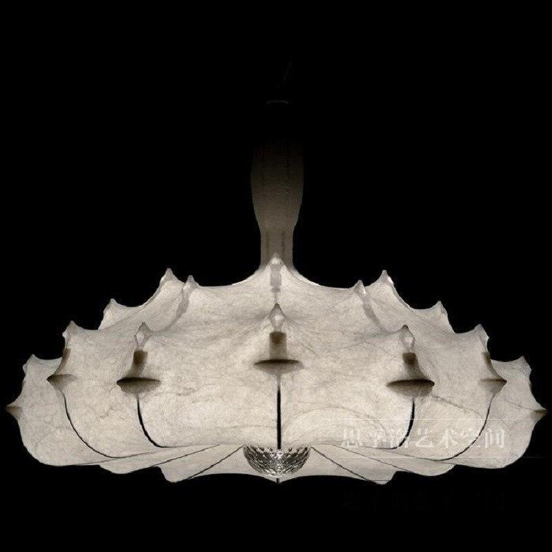 Designer Kunst Seide Luminaria Led Anhänger Lampe Hotel Suspension Lamparas Lustre Moderne Kronleuchter Beleuchtung Hängen Lampe Leuchte