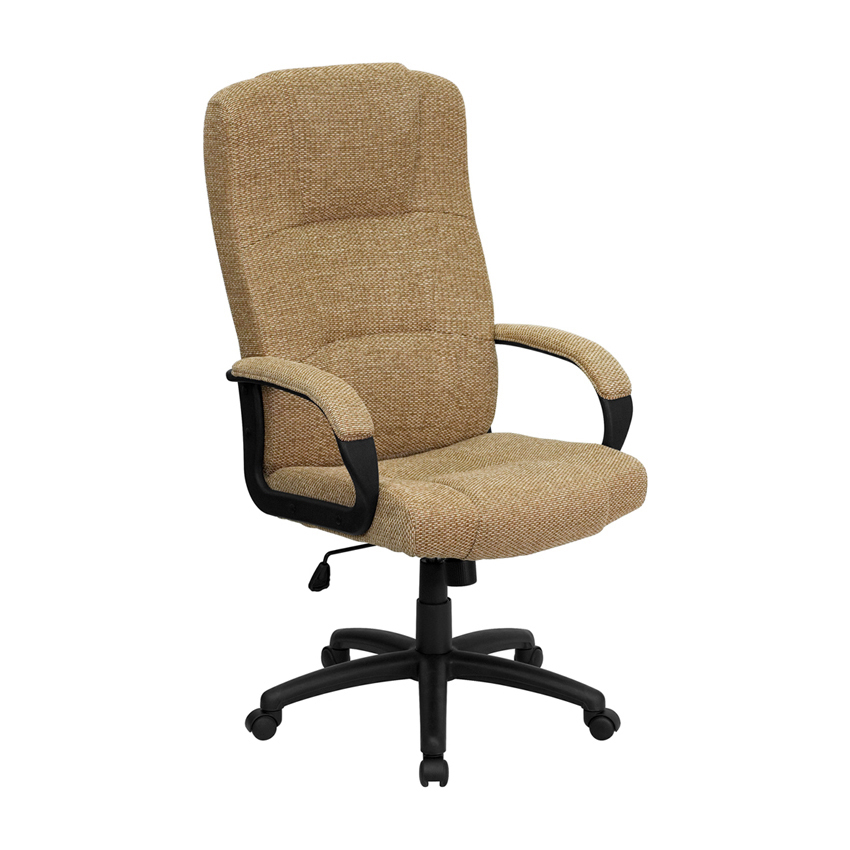 Flash Furniture High Back Beige Fabric Executive Office Chair [863-BT-9022-BGE-GG]