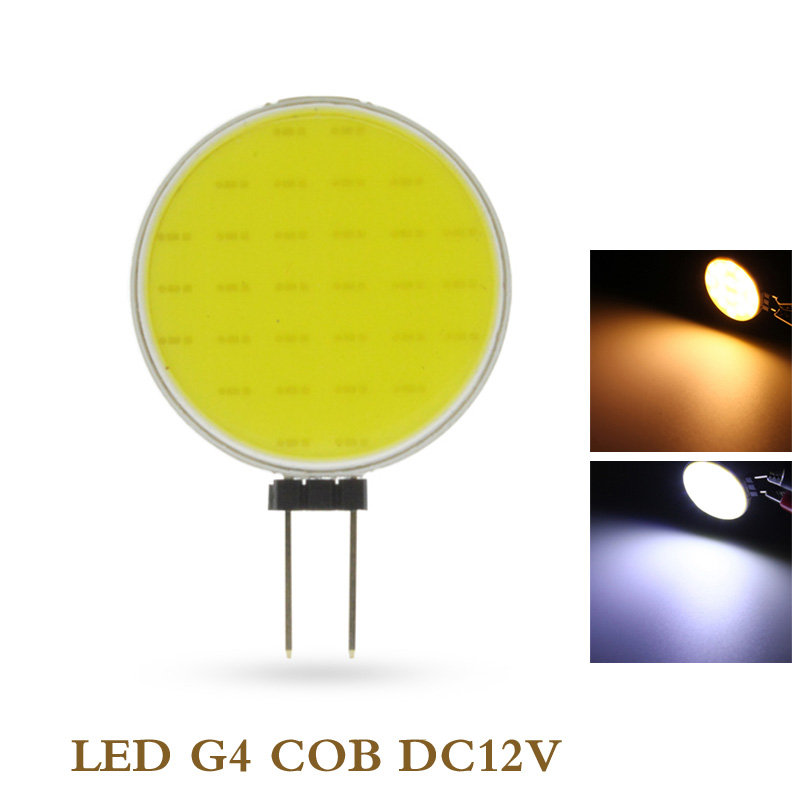 7W DC12V LED <font><b>G4</b></font> COB Bulb Pure Warm White LED 30 Chips Replace Halogen Lamp Spot Light Bulb image