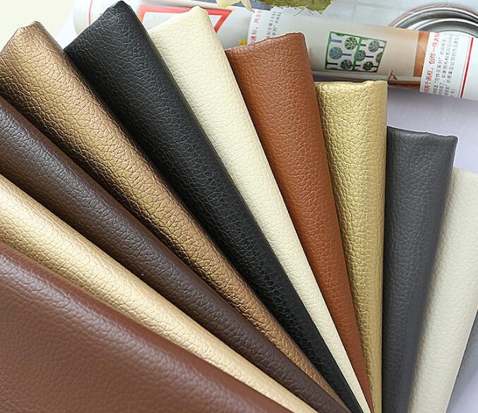 50x140 cm lichi grande de cuero de la Pu imitación de cuero en relieve de cuero de tela para coser artificial de cuero sintético