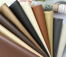 50x140cm Big Lychee Pu Leather Faux embossed leather, Faux Leather Fabric for Sewing, artificial synthetic leather(China)