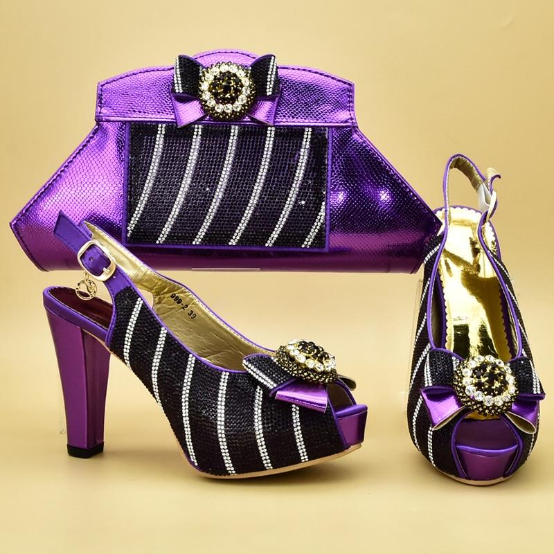 púrpura Y A Mujeres Con Juego Las Bolsa Imitación Boda De Decorado Africana Bolsos Lujo Azul fuchsia Último Diamantes oro Zapatos fOp0HnWE