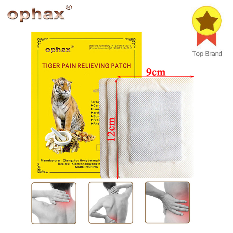 OPHAX 6Pcs/2bags Tiger Balm Chinese Herbal Patches Medical Plasters For Muscle Arthritis Joint Knee