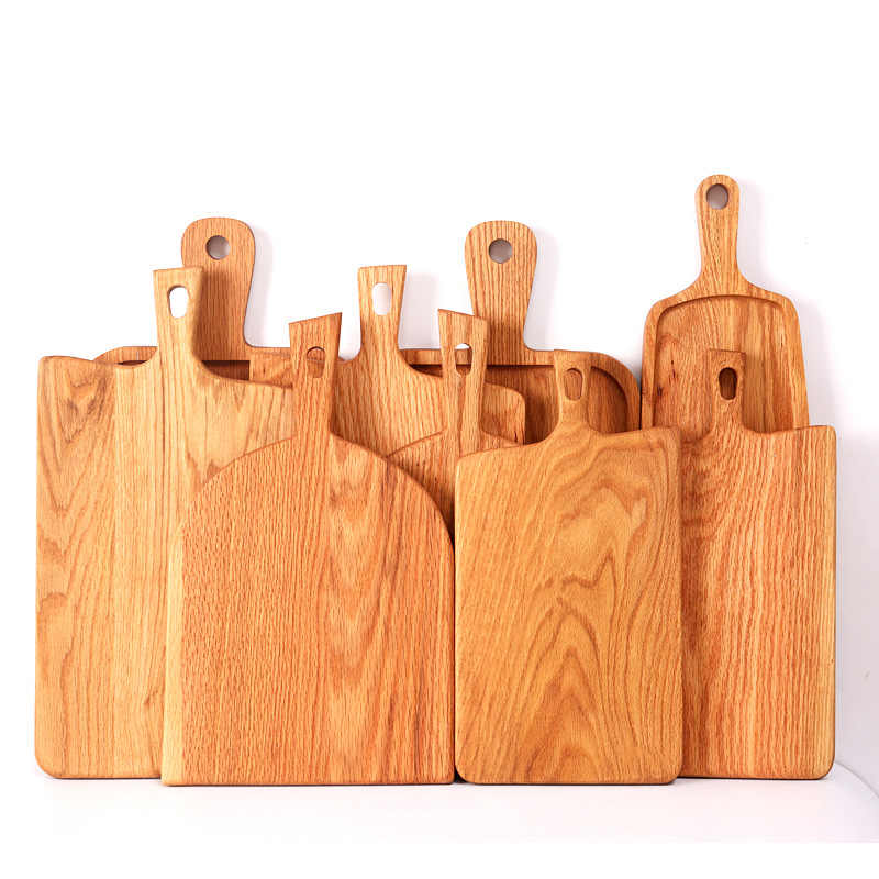 1Pcs Wood bread tray vintage Chopping block Handle pizza board Nordic cake food photography props wooden bread plate