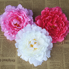 30PC Artificial Peony Flowers Simulation Flower Head Real Feel DIY Home Wedding Party Scrapbooking Decorative Artificial Flowers home decorative high simulation ombre artificial flowers